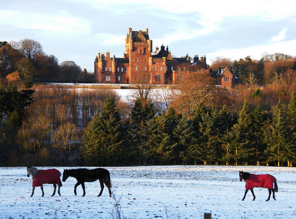 Ayton Castle in the winter