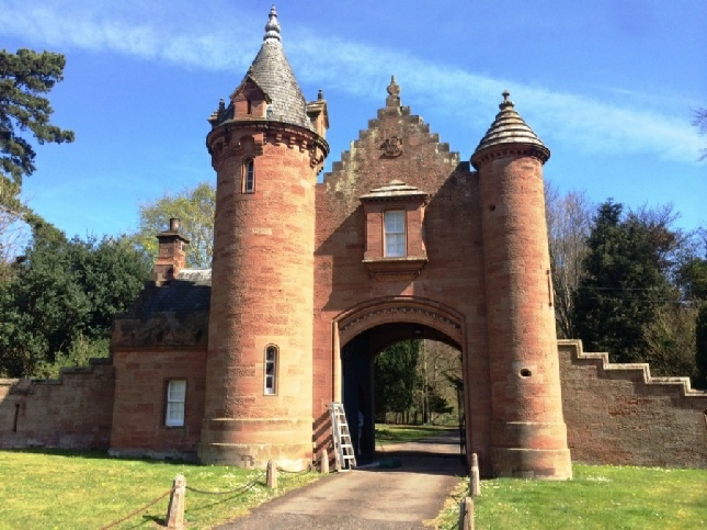 Gatehouse to the South Drive, Ayton Castle