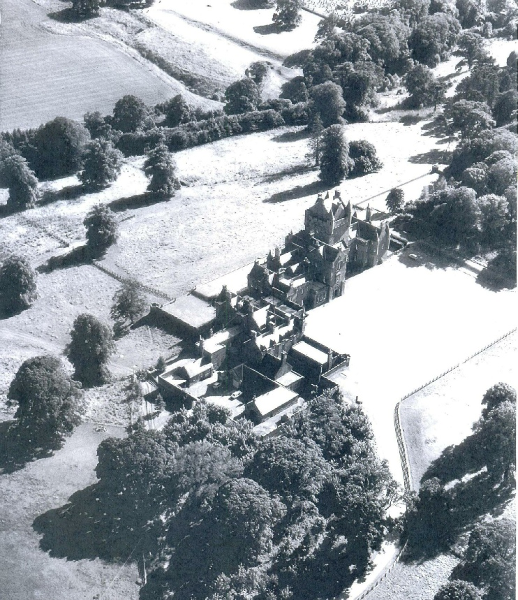 Ayton Castle from the air